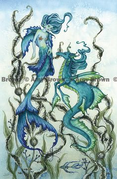 Somewhere Beneath the Sea PRINTS-OPEN EDITION - Mermaids - Amy Brown Fairy Art - The Official Gallery
