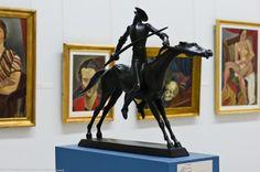 Don Quixote statue.