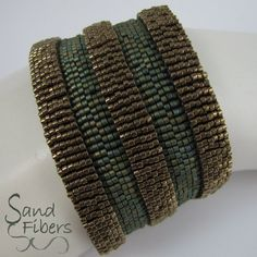 Ancient Architecture Peyote Cuff Bracelet - This is the newest work in my architecture industry. It creates wonderful matte metallic patina and - Beaded Jewelry Designs, Seed Bead Jewelry, Wire Jewelry, Jewelry Ideas, Seed Beads, Silver Jewelry, Architecture Antique, Bronze, Wood Molding