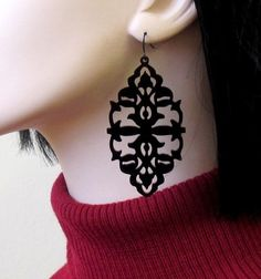 She's A Mystery - Victorian Lace Statement Earrings