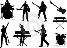 Rock Band Grouping....print out a 3-5 sets of band member silhouettes---I only used the singer, drummer, keyboard player, and guitarist (4 kids per group) but you can do whatever works in your class-----separated them and laminated them to group students. pass them out like cards.....students have to make their ever own rock band. For fun you can let them name their band!