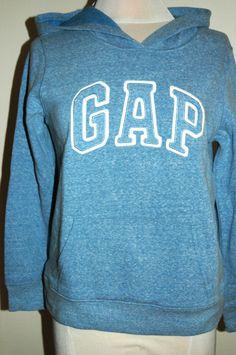 Gap Women's Heather Blue Pullover Hoodie Size Extra Large #GAP #Hoodie