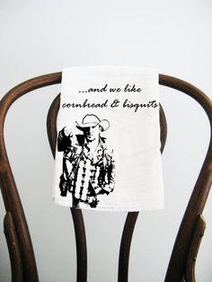 Flour Sack Towel Jason Aldean Cornbread & by badbatdesigns on Etsy, $10.00