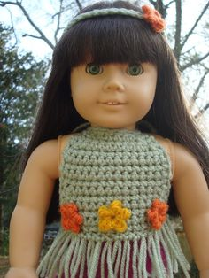 NyanPon's Knits and Crochet: Boho Doll Top