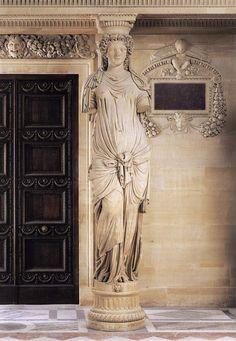 Jean Goujon, Caryatides 1550/ 1551 Stone Palais du Louvre, Paris