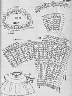 Blusa romántica al crochet   Crochet y Dos agujas - Patrones de tejido
