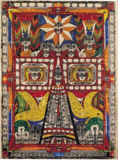 Adolf Wölfli Holy St. Adolf Tower 1919 pencil and colored pencil on paper, ca 31 x 22 in. Collection of American Folk Art Museum, promised gift of Sam and Betsey Farber, photo by Gavin Ashworth