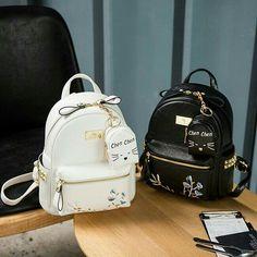 Girly Backpacks, Cute Mini Backpacks, Stylish Backpacks, School Backpacks, Fashion Bags, Fashion Models, Fashion Backpack, Fashion Watches, Style Fashion