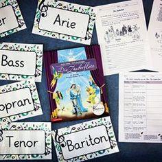 Erganzend Zu Den Lapbooks Uber Mozart Mochte Ich Euch Heute Die Materialien Zeigen Mit Denen Ich Zur Zauberflote Musik Schule Grundschullehrer Grundschule