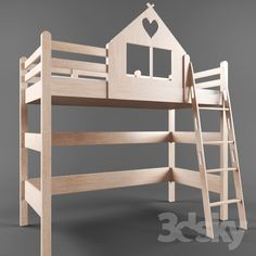 3d models: Bed - children's bed