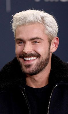 Zac Efron's Bleached Hair Finally Made a Public Debut, and We Almost Didn't . Zac Efron's Bleached Ted Bundy, Kevin Spacey, Crew Cuts, Bleached Hair Guys, Zac Efron Baywatch, Hottest Male Celebrities, Celebs, Bleach Blonde, Bleach Hair