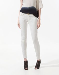 Zara - Ripped Jacquard Denim