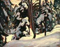 Winter, Algonquin Park by Lawren Harris Group Of Seven Artists, Group Of Seven Paintings, Canadian Painters, Canadian Artists, Ontario, Tom Thomson Paintings, Algonquin Park, Country Art, North Country