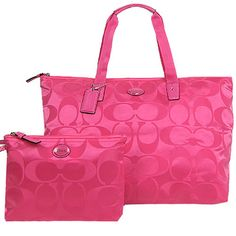 9a459ad51352 NWT auth coach 2 pcs signature packable weekender. Starting at $1 on  Tophatter.com
