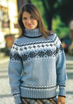 Ravelry: 12617 Isfjorden pattern by Dale Design Loom Knitting Patterns, Lace Knitting, Knitting Designs, Knitting Sweaters, Wool Sweaters, Knitted Christmas Decorations, Knitting Baby Girl, Rainbow Crochet, Knit Sweater Dress
