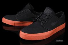 Nike SB Stefan Janoski 'Black/Black-Terra Cotta' at Premier... If only all boys would wear shoes like this.