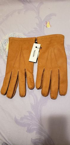 Men Driving Gloves Quilted Faux Leather Plush Lining Glove Windproof Touchscreen