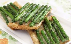 Cheesy Asparagus Tart | Ezra Pound Cake. Break out the frozen puff pastry for this simple but elegant vegetarian dish.