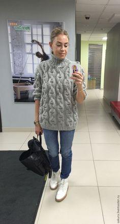 """Купить Свитер """"Норвегия"""" - серый, свитер, свитер женский, свитер вязаный, свитер спицами"""
