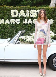 On the rise: Cindy Crawford and Rande Gerber's only daughter Kaia celebrated the launch of her first fragrance campaign, Daisy Marc Jacobs, in Los Angeles on Tuesday
