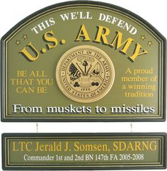 Northwest Gifts - U.S. Army Sign Personalized, $99.95 Military Gift Ideas (http://northwestgifts.com/u-s-army-sign-personalized/)