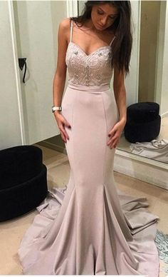 Custom Made Mermaid Evening Dresses,Sweetheart Sleeveless Prom Dresses,Backless Sweep Train Chiffon Prom Dress,Party Evening Dress Mermaid Style Prom Dresses, Blush Prom Dress, Straps Prom Dresses, Sweetheart Prom Dress, Prom Dresses 2018, Mermaid Evening Dresses, Beautiful Prom Dresses, Prom Party Dresses, Party Gowns