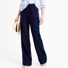 J. Crew Collection Silk Tuxedo-Stripe Linen Pant takes formality and turns it on its head. http://www.recoram.com