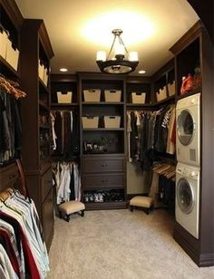 This stackable washer/dryer is great in the master closet.  Although I'd be fine with the closet being a tad smaller.