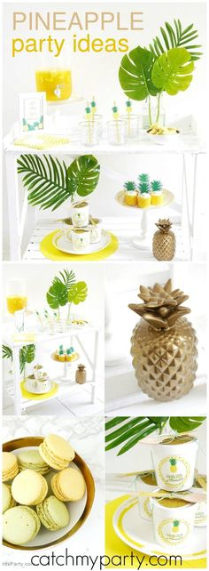 Party like a pineapple is the fun theme of this modern party! See more party ideas at http://Catchmyparty.com!
