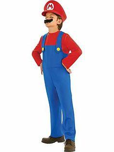Child Super Mario Bros Mario Costume