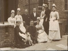 Servants and dog, 1900s