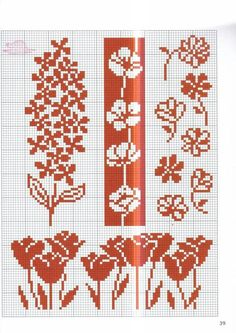 Fair Isle Knitting Flowers Charts