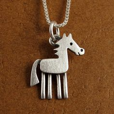 Tiny horse necklace