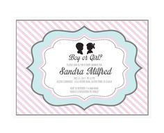 Gender Reveal Party Invitations (pack of 16)