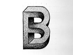 Illustrated Typography - Escher 'B' by Rob Hampson Letter E Craft, Letter B, Letter Logo, Logo Design Tutorial, Initials Logo, Monogram Logo, Graphic Design Posters, Graphic Design Typography, Lettering Styles