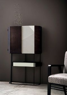 Discover Wireframe, the unique cabinet with a contemporary personality Cabinet Furniture, Furniture Design, Modern Bar Cabinet, Wireframe, Contemporary, Interior Design, Storage, House, Diy Wood