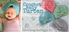 Crochet baby turban - @phillipg  you could make and sell these!