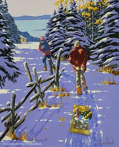 Rémi Clark, 'Un petit camp en Charlevoix', 24'' x 30'' | Galerie d'art - Au P'tit Bonheur - Art Gallery
