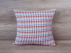 Fancy crochet pillow sham striped white taupe от AdorningPillows