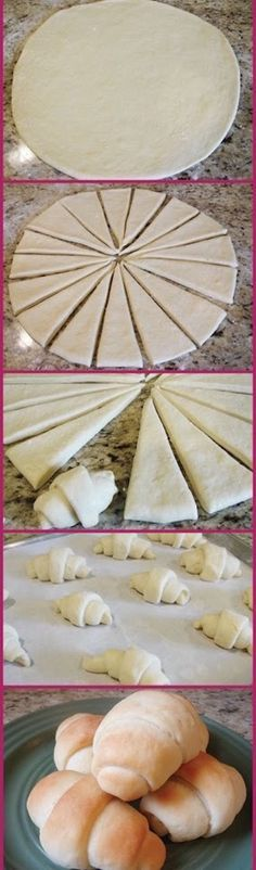 DIY homemade Crescent Rolls - No more processed Pillsbury! Best Crescent Rolls Ever Recipe ~ absolute BEST... Not only is the recipe easy, but they come out so soft and buttery and they just melt in your mouth.