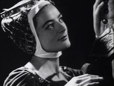 """Dame Maggie Smith as the Queen in """"Richard II"""" at the Old Vic, 1959"""