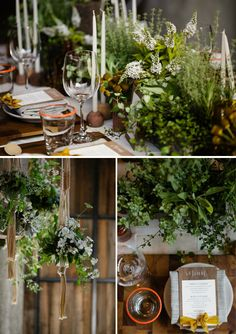 Too crowded, but I love the integration of herbs and the greens. I also love the integration of candles