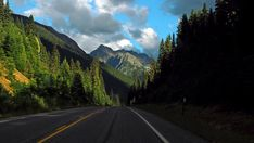 Road Next to Forest and Mountains · Free Stock Photo Beautiful Streets, Free Stock Photos, Road Trip, Country Roads, Mountains, Travel, Concrete, Business, Projects