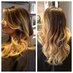 Kim kardashian hair! #blondeombre