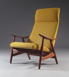 Teak High Back Lounge Chair