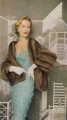 Vintage Glamour <3 1952. 1950s fashion