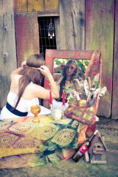 Hippie Style ♥ love the mirror
