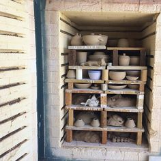 Stacking the kiln! •  Did you know we offer kiln hire? $8/kg for bisque and $50 per shelf or part there of for stoneware or earthenware.