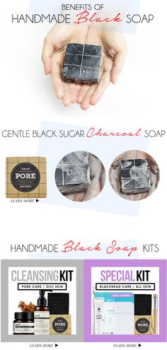 """In my cleansing routine atm. Smells like crap, but works like magic    """"Benefits of Handmade Black Soap That Will Change Your Cleansing Routine"""""""