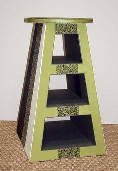 Tutoriel Tabouret ou meuble déco en carton (Créations en carton - cartonnage) - Femme2decoTV - step by step Photo tutorial - Bildanleitung
